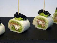 Receta Rollitos de salmón con aguacate y salsa tartara - Recetas de cocina, paso a paso, tutorial - YouTube