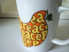 Vintage Dove of Peace Coffee Mug 8 oz  1960s by IcicleGarden