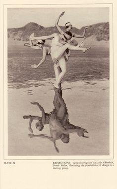 Reflections Plate X from Margaret Morris – Dancing,photographs by Fred Daniels Morris Dancing, Foto Art, Modern Dance, Dance Photography, Art Plastique, Vintage Photographs, Figure Drawing, Belle Photo, Old Photos