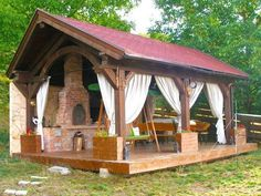 Pergola Patio, Gazebo, Tiki Hut, House Doctor, Pool Houses, Sweet Home, Outdoor Structures, Cabin, House Styles