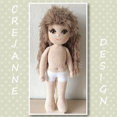 Sven in pyjama Crochet Dolls, Teddy Bear, Toys, Modern, Animals, Design, Baby Dolls, Amigurumi, Activity Toys