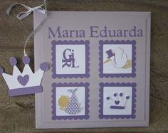Livro Do Bebê personalizado lavanda