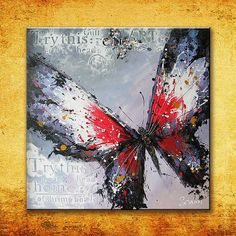 "30""W x 30""H Hand-painted Butterfly Oil Painting - 0106 · Rock Wall Art · $119.99"