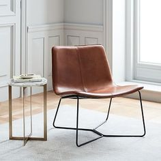 Slope Leather Lounge Chair #westelm