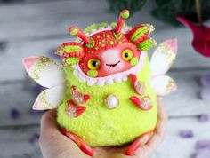 doll kawaii creature  Firefly toy pixie winged от LullabyForFox