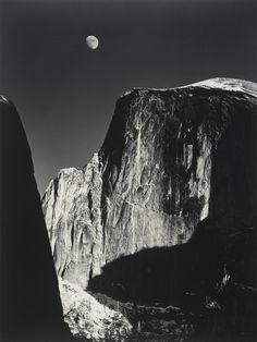 Ansel Adams, Moon over Half Dome, Yosemite National Park, California, 1960, gelatin silver print