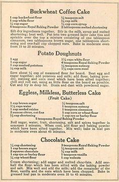 Daily Good: Depression Era Recipes Frugal and Delicious Retro Recipes, Old Recipes, Vintage Recipes, Cookbook Recipes, Cake Recipes, Dessert Recipes, Cooking Recipes, Family Recipes, Recipies