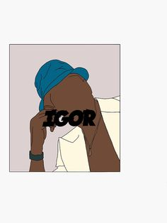 'Tyler the Creator - IGOR' Sticker by Elsiebubba Cute Canvas Paintings, Small Canvas Art, Diy Canvas Art, Aesthetic Painting, Aesthetic Art, Tyler The Creator Wallpaper, Ocean Drawing, Unique Drawings, Psychedelic Art