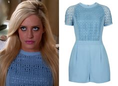 Dalia Royce (Carly Chaikin) wears this blue eyelet romper in Suburgatory episode…