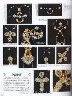 手工串珠教程 水晶串珠材料 DIY教程-y