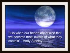 """Andy Stanley quote from my book, """"The Wellspring Of Life"""""""