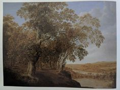 "Alexander Keirincx Landscape with Deer Hunt 33 1/8"" x 43 1/4"" 1640-45 Dutch trees"