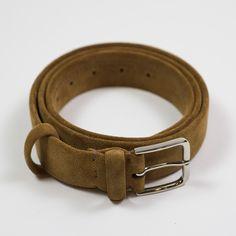 "Ruggine tan suede ""tubo"" tubular dress belt"