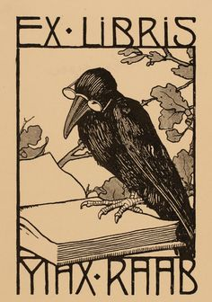 Search the bookplate collections of Frederikshavn Art Museum and Exlibris Collection. The database contains thousands of high quality book plate images. Ex Libris, Crows Ravens, Vampire, Wood Engraving, Vintage Posters, Book Lovers, Book Worms, Printmaking, Book Art