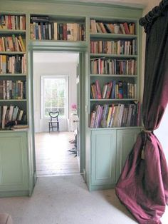 built-ins over the doorway with home library design / bottom cupboards Home Library Design, House Design, House, Home, Bookshelves Built In, Home Libraries, Georgian Homes, Georgian Interiors, House Interior