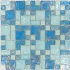 f05178748eb2 12 Best Blue iridescent glass tile Backsplash images