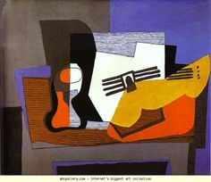 Pablo Picasso. Still Life with Guitar. Olga's Gallery.
