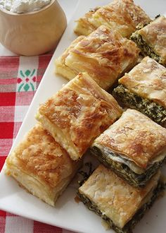 Katmer Pie _ with Spinach, Cheese, and Eggs. (Serbian Cuisine)