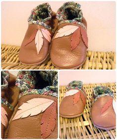 Soft sole leather baby Crib Chaussures voilier Aqua 6-12 M Pantoufles Minishoezoo
