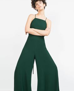 HALTER NECK JUMPSUIT WITH BACK STRAP - Jumpsuits - WOMAN | ZARA United States
