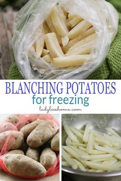 Excellent Toddler Shower Centerpiece Tips Blanching Potatoes Before Freezing Will Ensure That Your Potatoes Keep Their Quality And Last Longer In The Freezer. Here Is How To Blanch Potatoes. Freezing Potatoes, Freezing Vegetables, Frozen Potatoes, Frozen Vegetables, Fruits And Veggies, Can You Freeze Potatoes, Freezing Fruit, How To Store Potatoes, Canning Food Preservation