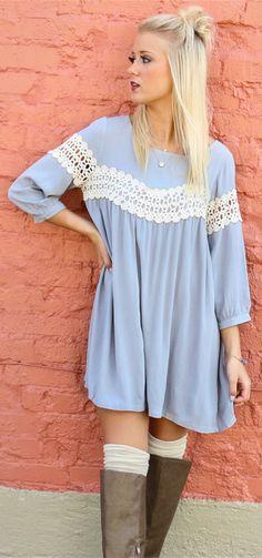 Crochet Lace Spliced Dress (Nastydress 8%off Coupon:NDCPP02)