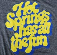 retro Hot Springs t-shirt