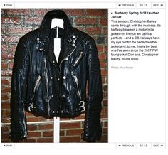Black leather jacket...of course...Burberry probably 5k