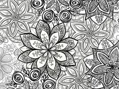 black and white fabric | That's a sample view of the black and white floral fabric , and ...