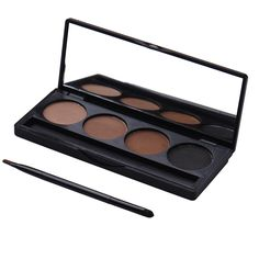 4 colors/set Natural colorful Eye Shadow Smoky Makeup Eyeshadow Powder Palette Easy to Wear Cosmetic eyeshadow with brush #Affiliate