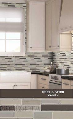 mosaic glass lowes backsplash