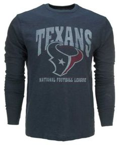 a907db20d Brand Men s Houston Texans Logo Scrum Long-Sleeve T-Shirt Men - Sports Fan  Shop By Lids - Macy s