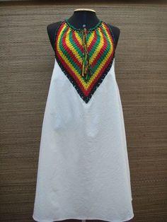 Diy Crochet, Crochet Crafts, Crochet Projects, Festival Tops, Crochet Blouse, African Design, Crochet Clothes, Refashion, Hand Stitching