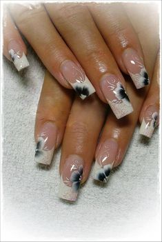 Black And White Nail Art Design
