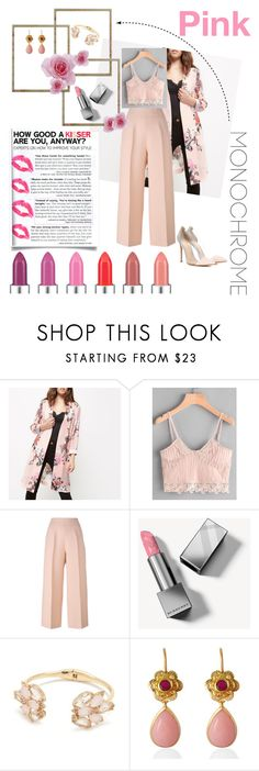 """""""Soft rose set"""" by lauren-ilana ❤ liked on Polyvore featuring River Island, Fendi, Burberry, Kate Spade, Emma Chapman and Gianvito Rossi"""