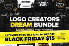 BLACK FRIDAY! Logo Creators Dream B. by Mats-Peter Forss on @creativemarket