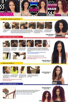 "Freetress Equal Synthetic Hair Braids Double Strand Style (Havana Twist) Cuban Twist 16"" - Samsbeauty"