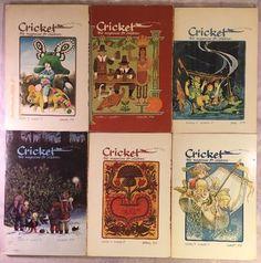 Cricket The Magazine For Children Lot 1974 1975 1976 - 6 Magazines