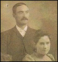 "Jacob ""Jake"" Hopp, the printer from Little Town on The Prairie, and his wife Susie (sister of Laura's friend Mary Power)"