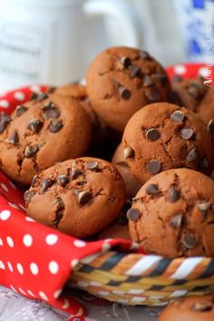 Chocolate fondant biscuits (without butter - gâteau Chocolate Chip Cookies, Chocolate Fondant, Biscuits Fondants, Cookies Et Biscuits, Chocolate Yogurt, Chocolate Recipes, Easy Christmas Cookie Recipes, Fondant Cookies, Favorite Cookie Recipe