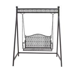 Black Iron Patio Swing - Overstock™ Shopping - Great Deals on Hammocks/Swings