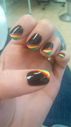 Jamaican nails Source by Fancy Nails, Love Nails, How To Do Nails, Pretty Nails, My Nails, Jamaica Nails, Reggae Rasta, Rasta Nails, Nail Arts