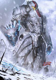 "Jaegar - Aegir Omega (Norway) by Daniel Kamarudin (theDURRRRIAN) - Inspired by ""Pacific Rim"""