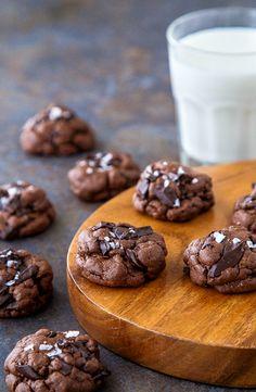 Chocolate chunk chocolate cookies with sea salt @dessertfortwo