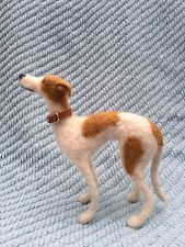 Dog Greyhound Whippet Hand Made Needle Felted OOAK