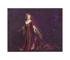 Design for Dame Joan Sutherland as Adriana in Act II. Adriana Lecouvreur; the Australian Opera 1984.