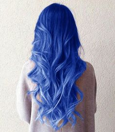 This beautiful blue hair is perfect for a dashing gorgeous look! ♡♡♡
