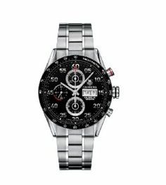 Collections TAG Heuer Men's Carrera Automatic Chronograph Watch. Discover the best luxury watches Collections TAG Heuer Men's Carrera Automatic Chronograph Watch Tag Heuer Carrera Chronograph, Tag Heuer Carrera Calibre, Casual Watches, Cool Watches, Men's Watches, Fancy Watches, Expensive Watches, Stainless Steel Watch, Stainless Steel Bracelet