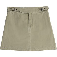 Marc by Marc Jacobs Cotton Mini Skirt (240 CAD) ❤ liked on Polyvore featuring skirts, mini skirts, green, brown skirt, short cotton skirts, green skirt, mini skirt and green cotton skirt