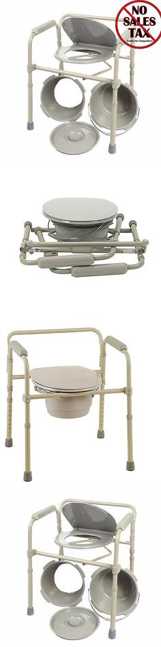 Toilet Frames and Commodes: Mobile Shower Bedside Commode Folding ...